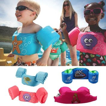 2018 Bath Life Jacket Safety Vest Waterskiing Swimming Floating Swimming Safety Suit Vest Swimsuit Snorkeling For 2-7T Kids Fits