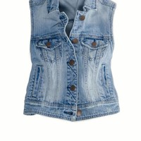 AEO Women's Denim Vest (Light Wash)