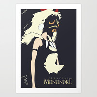 Princess Mononoke Art Print by Shea Kennedy