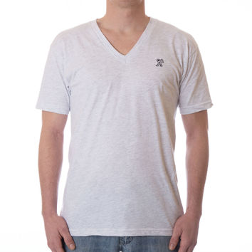 READY V-NECK - Ash Grey