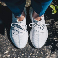"""Adidas"" Women Yeezy Boost Sneakers Running Sports Shoes White G"