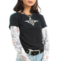 Vintage Y2K Layer Look Harley Tattoo Top - XS/S