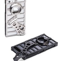 Tacticall Alpha 1 - Knife & Bottle Opener Case For iPhone 5 - Polished Silver