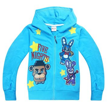 Autumn Children Hooded   At Freddy Foxy and Teddy Sweater Baby Boys Coat Kids Girls Jacket Kids Warm Outerwear
