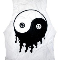YIN AND YANG Burnout Unisex Muscle Tee