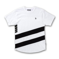 Lanes Tee in White – Pink+Dolphin
