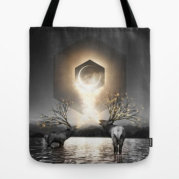 Moon Dust In Your Lungs Tote Bag by Soaring Anchor Designs