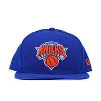 5950 knicks fitted hat blue