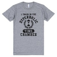 Hyperbolic Time Chamber (Distressed)-Unisex Athletic Grey T-Shirt