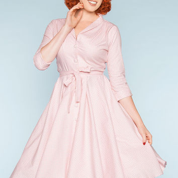 Final Sale - Monte Carlo Dress in Pink Gingham