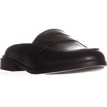 naturalizer Villa Backless Penny Loafers, Black Leather, 6 US / 36 EU
