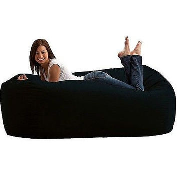 Comfort Black Bean Bag Chair Seat Cozy Games Lounge Recliner Foam Room Video