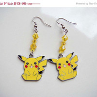 On Sale Pikachu Pokemon Dangle Earrings Anime
