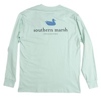 Authentic Long Sleeve Tee in Ocean Green by Southern Marsh