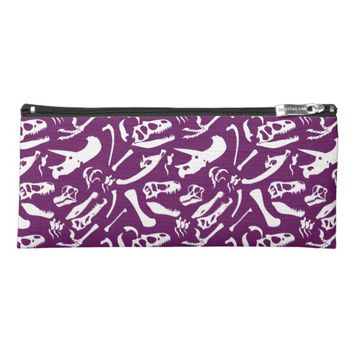 Dinosaur Bones (Purple) Pencil Case