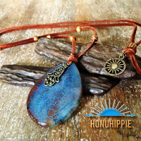 Yoga hamsa hand necklace, boho hippie style jewelry