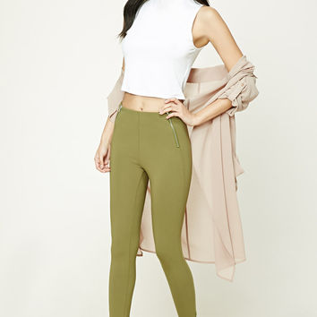 Zippered Ankle Leggings