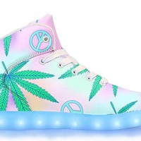 Peace & Weed - APP Controlled High Top LED Shoes