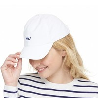 Women's Vineyard Vines Whale Logo Baseball Hat - White