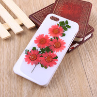 Daisy real pressed flower iPhone case and Galaxy case 002