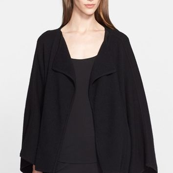 Women's Donna Karan New York Boiled Cashmere Blend Swing Coat