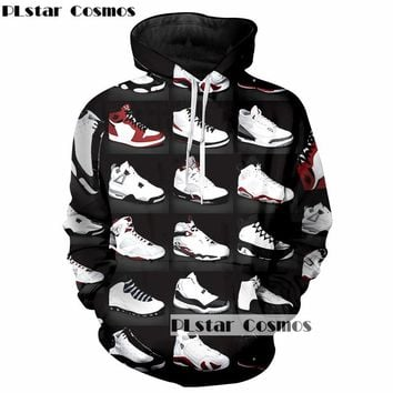 PLstar Cosmos 2018 Hip-Hop personality 3Dhoodies casual printing shoes Man Woman sweatshirts Hipster street hoodie 5X