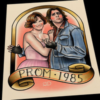 Bender and Claire (Prom 1985) Art Print