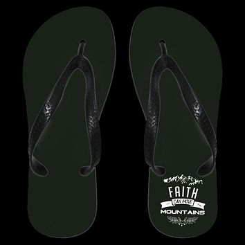"Christian Apparel - ""Faith Can Move Mountains"" Flip Flops"