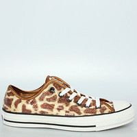 The Chuck Taylor Lo Sneaker in Giraffe Sequins