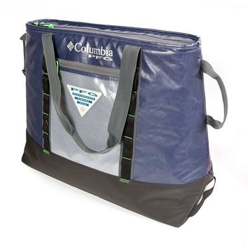Columbia PFG Perfect Cast 50 Can Thermal Cooler Tote (Blue)