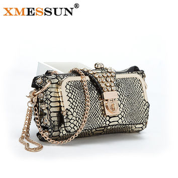 XMESSUN Brand 100% Genuine Leather Women Bag Natural Cowhide Day Clutches Bags Party Bags Evening Bags  Lady Wedding Purse M127