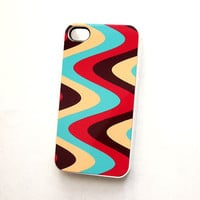 SALE iPhone 4 or iPhone 4S Case Retro Swirls iPhone4 Accessory Cases