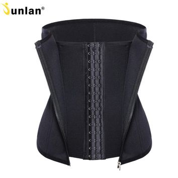 3 Clip 1 Zipper 6 Spiral Boned Waist Trainer Corset Workout Body Shaper for Weight Loss Tummy Control Tummy Fat Burner Shapewear