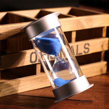 15 minute plastic sand Hourglass Timer Anti-break sandglass child safety protection ornament home decor ampulheta Free shipping