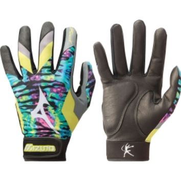 Mizuno Finch Premier Fastpitch Batting Gloves - Tie-Dye | DICK'S Sporting Goods