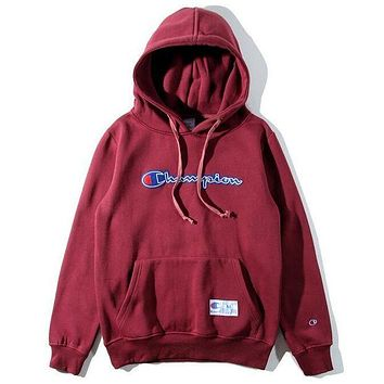 DCCKJH2 Champion Fashion Embroidery Hooded Sweater Sweatshirt Top