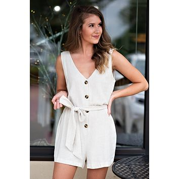 Natural Beauty Romper : Natural