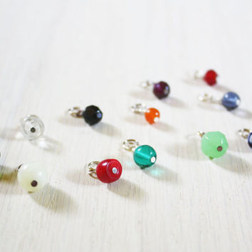 Pick 2 Bead Charms - vintage glass beaded charm - design your necklace - build your own customized jewelry