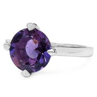 Silvancé - Women's Ring - 925 Sterling Silver - Genuine Amethyst - QR1204A_SSR_18