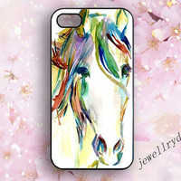 Horse iphone 4s case,art horse Painting Designer iPhone 5s case,iphone 5/5c case,samsung galaxy s5 case,art painting iphone 4 case