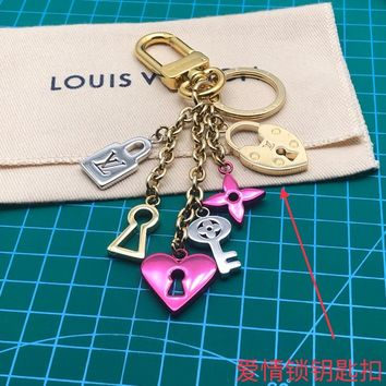 Louis Vuitton Lv M67438 Love Lock Heart And Keys Bag Charm And Key Holder