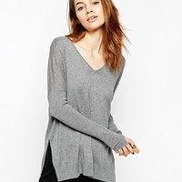ASOS V-neck Jumper With Side Splits