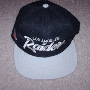 Vintage 80's Los Angeles Raiders Cap Hat Snapback Sports Specialties Team NFL