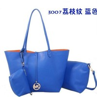 MK WOMEN HANDBAG PURSE SHOULDER BAG TOTE+WALLET MK3007