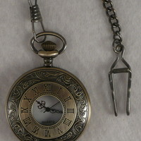 Pocket Watch 01 Pendant on an Antique Chain with hook