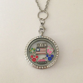 Floating memory locket large 30mm stainless steel DCL Disney cruise line inspired charms