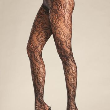 Bewicked Female Floral Net Tights BW690B