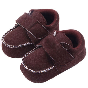 Cozy Toddler Baby Linen Crib Shoes Kid Boy Girl Non-Slip Loafers Shoes 0-12M PY5 SM6
