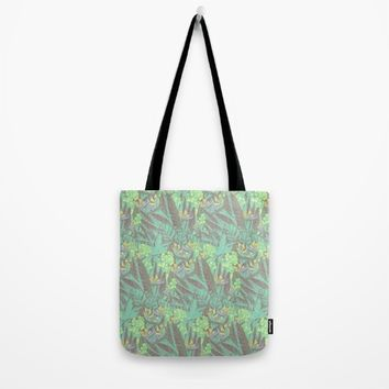 Tropical Paradise: Jade Jungle Tote Bag by Ben Geiger