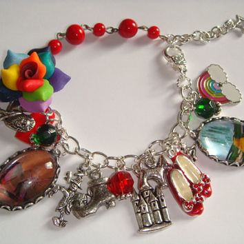 Wizard of Oz Loaded Charm Bracelet Free Worldwide by indiemeadow